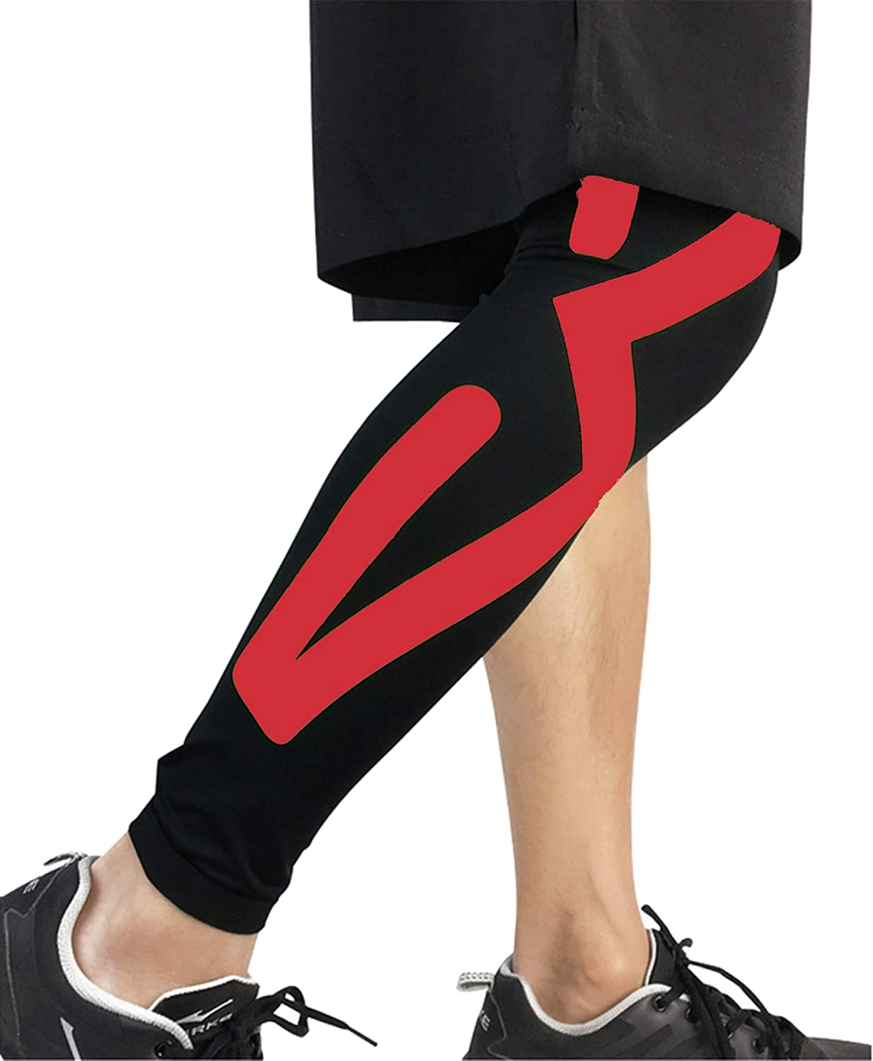 Exercise Knee Arthritis Pain Relief, Predecting The Patella, Energy Pressure Bar, Tights, Mountaineering, Running, Male Female, Red, Size  M, L, XL, 1 Pair