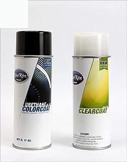 ColorRite Aerosol Automotive Touch-up Paint for Porsche 911 - Grand Prix White 908/P5 - Color+Clearcoat Package