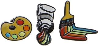 museourstyty 3 brochas, broches, broches, broches, broches, diseño de arco iris, joyería de artista, regalo