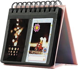 Forusky de 3 Pulgadas Calendario de Escritorio Álbum de Fotos de Instax Mini 8 8+ 9 70 7s 90 25 26 50s Lomo cámara Sofort - Rosa