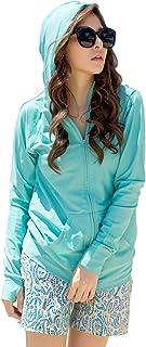 Sunbabysラッシュガード レディース UPF50+ UV対策 ラッシュガード パーカー UVカット 水着 オーバウェア 体型カバー 紫外線対策 速乾 指穴付き 長袖 9色