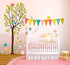 Oopsy Daisy Fine Art for Kids Rise and Shine Tree Peel and Place Sticker by Finny and Zook, 54 x 45