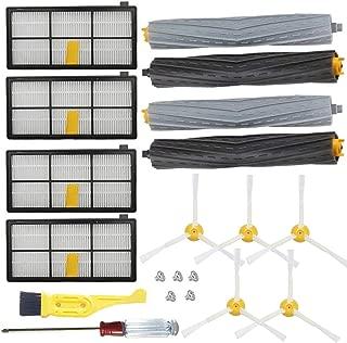 JUMBO FILTER Replacement Parts for iRobot Roomba 800 900 Series 805 860 870 871 880 890 960 980 Side Brush Bristle Brush Replacement Kit(14pcs)