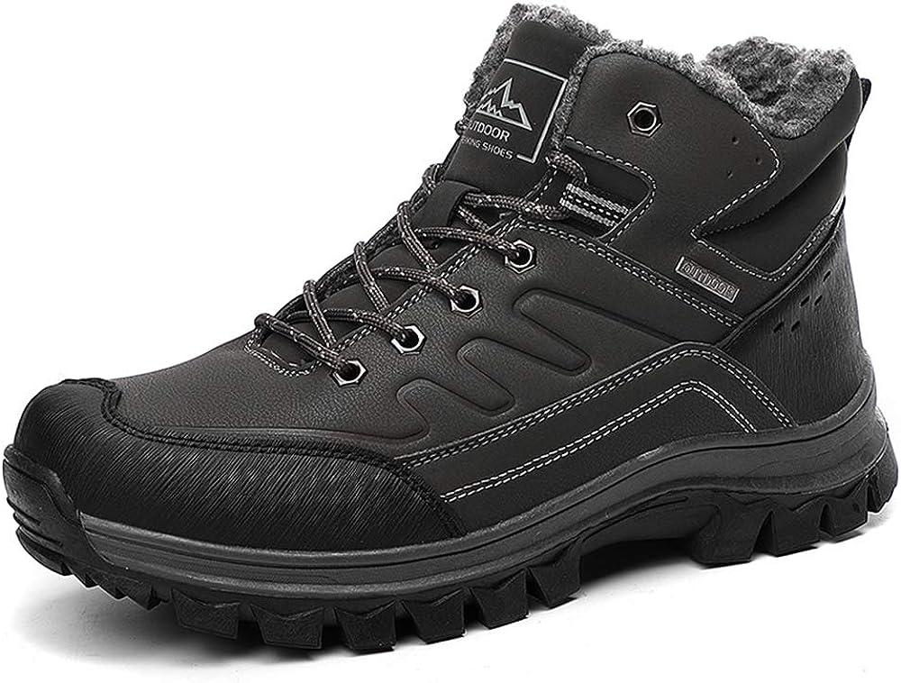 BETOOSEN Winter Men's Outdoor mid New sales Waterproof Max 90% OFF Hiking Fur Boot Lin