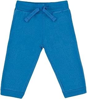 KIDENTIAL Kids' 100% Certified Organic Cotton Crop Fleece Jogger, Unisex, Boy, Girl (Blue, Size 6-7 Years)