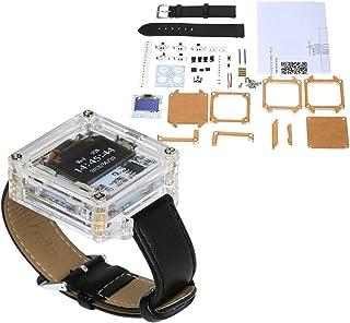 KKmoon SCM impresionante reloj LED transparente DIY LED tubo digital reloj de pulsera reloj electrónico kit de bricolaje