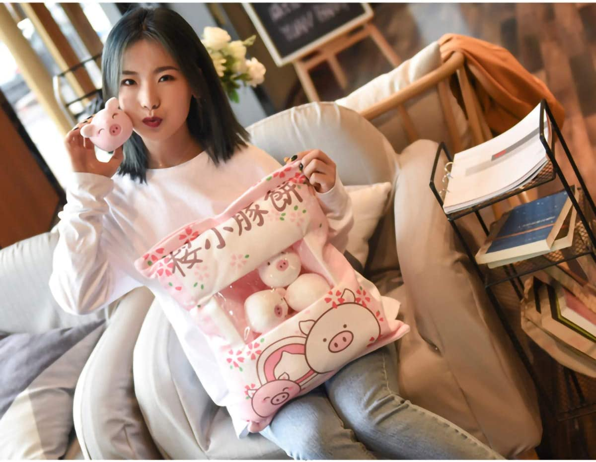 JINGZ Cute Animal Soft Throw Pillow Cartoon Anime Cotton Stuffed Toy for Home Decoration//Kid/'s Toy//Birthday Gift