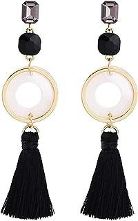 Pendientes Pendientes de borla moda exquisita temperamento clásico popular pendientes de círculo geométrico de moda larga ...