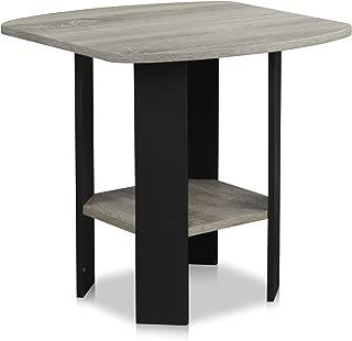FURINNO Simple Design End/SideTable, 1-Pack, French Oak Grey/Black
