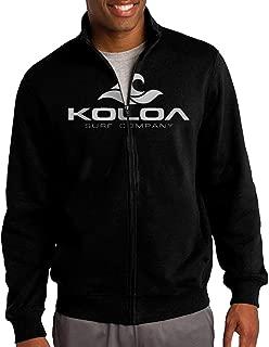 Men's Zip-up Jacket Hooded Hood Surf Co(tm) Classic Wave Logo Black