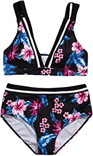 Boutique Swimsuit, 2019 Women Floral Print Bikini Sets Two Piece Swimsuits Swimwear Beach Suit