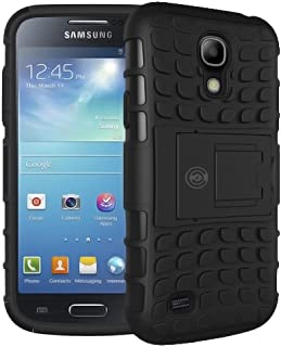 Cable And Case Galaxy S4 Case, Samsung Galaxy s4 Case [Heavy Duty] Protective Tough Armorbox Dual Layer S4 Phone Cases with Hybrid Hard/Soft Cover [Compare to Otterbox & Lifeproof] - (Black)
