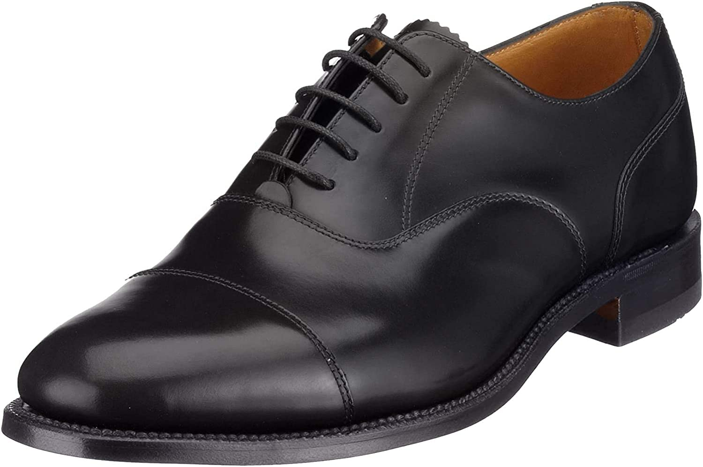 Loake 200 Black Polished Leather Mens Oxford Shoes 10.5 Black