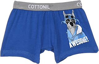 Cottonil Printed Contrast Elastic Waist Boxers for Boys