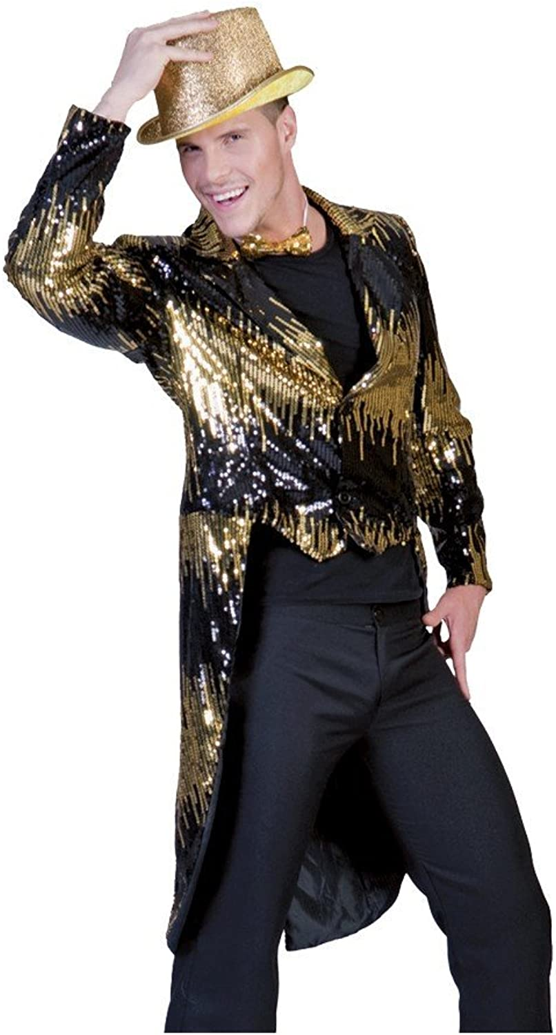 Funny Fashion Glitter Tailcoat gold Adult XLarge