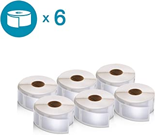 DYMO Multipurpose Labels for LabelWriter Label Printers, 1'' x 2 1/8'', White, 500 Labels Per Roll, Pack of 6 Rolls
