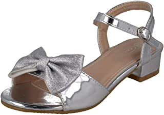 Spot On Girls Metallic Sandals