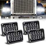 Newest Lens 60W 4x6 Inch LED Headlights with...