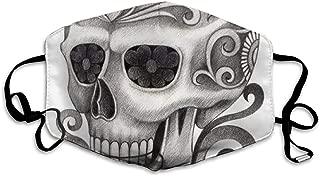 Art Skull Day of The Dead.Mask Mouth Mask Neck Gaiter Mask Bandana Balaclava Easter St. Patrick's Day