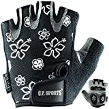 C.P. Sports Trainingshandschuhe Lady Fitness - Guantes para Fitness, Color Negro/Plateado, Talla XS