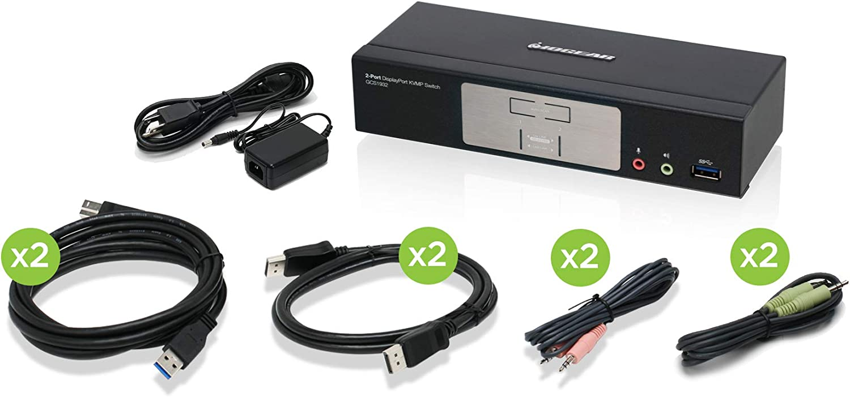 IOGEAR 4-Port 4K KVMP Switch with HDMI Connection, USB 3.0 Hub, and Audio