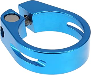Bicycle Seat Cushion Retaining Clip Release Seatpost Bike Seat Post Clamp Colors Tube Clip Clamping Aluminum Alloy Blue
