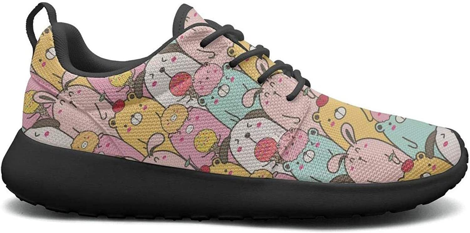 Gjsonmv Cute Animal Dizzy Pigs Art mesh Lightweight shoes for Women Fashion Sports Trail Running Sneakers shoes
