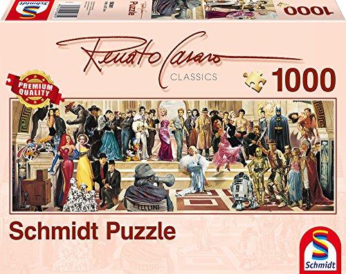 Schmidt Spiele 59381 - Renato Casaro, Panoramapuzzle, 100 Jahre Film, 1000 Teile