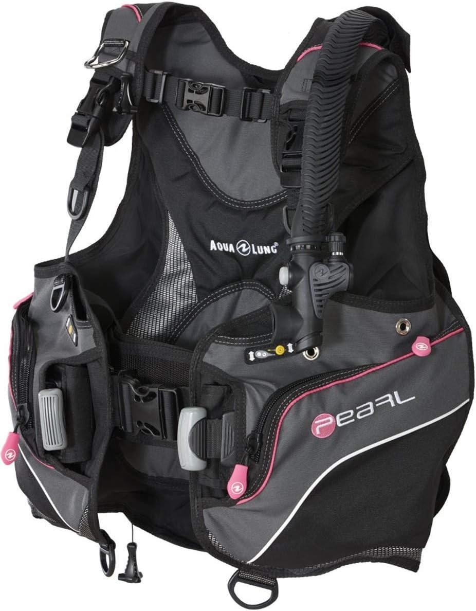 Sacramento Mall Aqua Lung Pearl Women's BCD Charcoal Small gift Black Pink