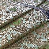 Indischer Banarasi Brokatstoff, florales Muster,