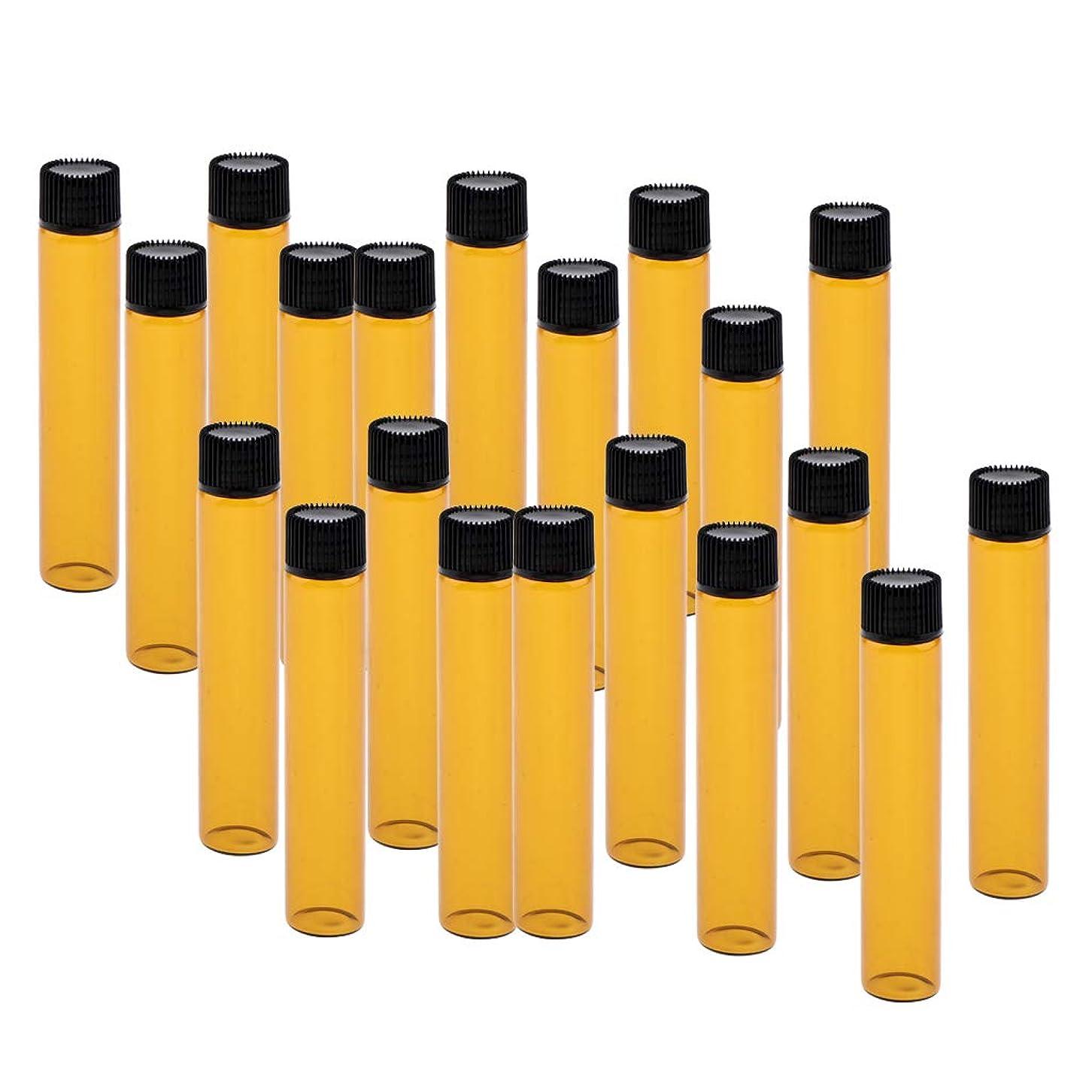 郡感じるファームPerfeclan 20個 詰替え容器 香水ボトル ガラスボトル 小分け容器 小分けボトル 全4色 - ブラック