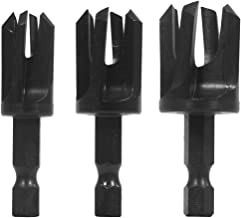 Snappy Tools 43300 Tapered Plug Cutter 3-Piece Set, To Conceal Screws and Other Fasteners, 1/4
