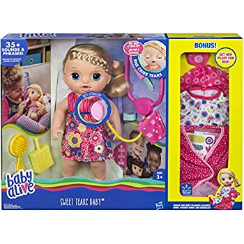 Baby Alive Sweet Tears Baby Blonde Hair Bonus edition