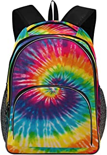 ALAZA Abstract Swirl Design Tie Dye Travel Laptop Backpack Durable College School Backpack for Boys Girls