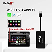 Carlinkit Wireless Carplay Dongle Wired Android auto Multimedia Receiver for aftermaket vihecle with Android System Unit Radio Upgrade Plug and Play(only Support Wireless carplay with iPhone)