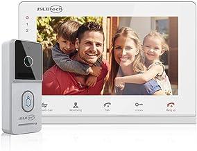 JSLBTech Videoportero 7 Pulgadas Timbre Video Sistema Intercomunicador con Versión Nocturna IR, Desbloqueo Remoto Compatib...