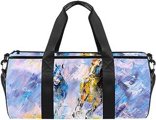 TIZORAX loros con flores tropicales acuarela gimnasio bolsa de viaje bolsa bolsa de viaje bolsa de la azotea
