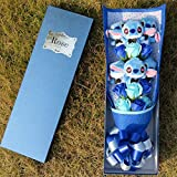 LoveTapestry Stitch Bouquets Plüschtiere mit sechs Seifenblüten, Cartoon Kuscheltier Geschenke zum...