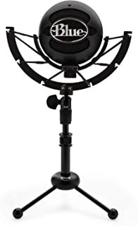 Blue Snowball iCE Mic (Black) with Knox Gear Shock Mount