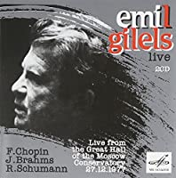 Gilels Live: Moscow Conservatory, 1977