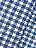 Slantastoffe Baumwollstoff Dekostoff Denim Karo blau (1,5m)