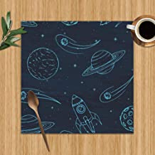 Placemats Set of 4,Hand Drawn Jupiter Science Heat-Resistant Placemats Washable Table Mats for Kitchen Dining Table 12X12 Inch