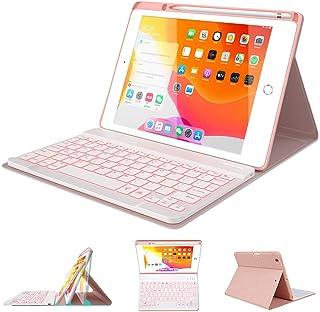 "iPad Keyboard Case 10.2"" 8th/7th Generation for iPad 2020/2019 - Backlit Wireless Detachable BT Keyboard - Built-in Pencil..."
