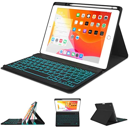 JUQITECH Keyboard Case with Built-in Pencil Holder for iPad Air 3 10.5 2019 3rd Gen Rose Gold Auto Sleep//Wake Detachable Wireless Bluetooth Keyboard Magnetic Smart Case Cover //iPad Pro 10.5 2017