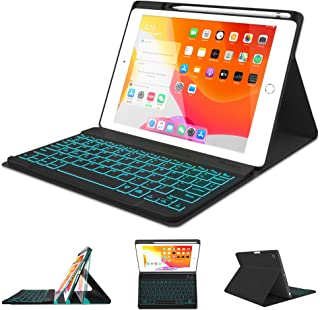 "Best iPad Keyboard Case 10.2 8th 7th Generation 2020/2019 - Pro 10.5 Air 3rd Gen 2019/2017 - Detachable Backlit Wireless BT Keyboard - Built-in Pencil Holder - Auto Sleep/Wake Case for iPad 10.2""/10.5"" Review"