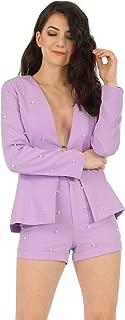 Momo&Ayat Fashions Ladies Plus Size Pearl Collerless Tailored Blazer AUS Size 16-24