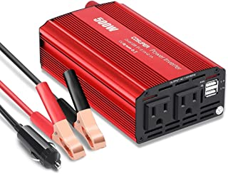 Soyond 500W Power Inverters (2021 News) 12v Dc to Ac Inverter 4.2a Dual USB Car Charge Battery Converter Vehicle Electroni...