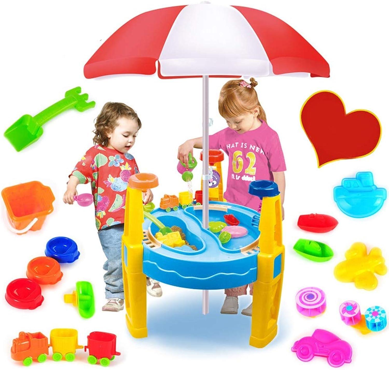 gran descuento Set de juguetes de Jugara para Niños Niños Niños Jugara de la Jugara Juguetes de mesa de arena y agua con sombrilla Juego de juguetes para Niños Aprendizaje temprano Juego de juguetes de construcción de castillos Ju  promocionales de incentivo