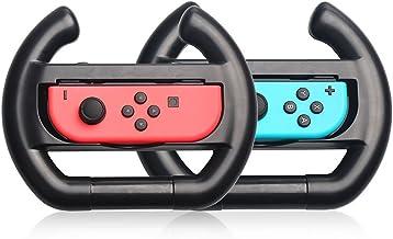 Switch Wheel, Proslife Switch Volante para controle Joy Con, pacote com 2, preto/preto (controles não incluídos)