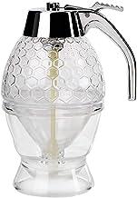 Pulp Juice Transparent Glass Handy Trigger Release Elegant Design Durable And Safe Honey Syrup Dispenser(transparent)